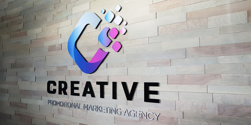 Creative office logo wall