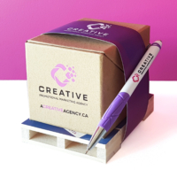 Creative self promotion kit made from promotional products