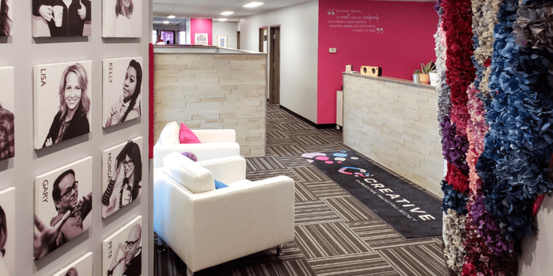 Creative Promotional Marketing Office Interior