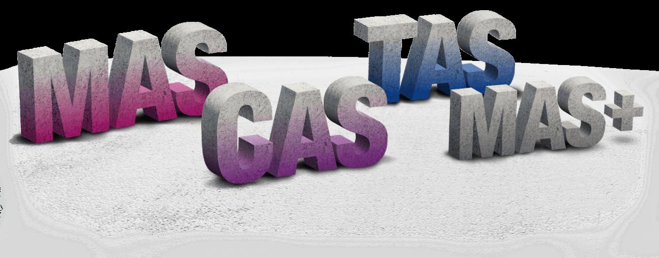 MAS CAS TAS MAS+ Designations