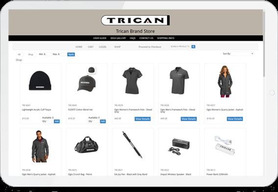 Online Company Store Screenshot