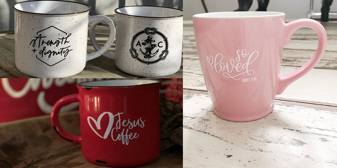 branded mugs created for an online ecommerce shop