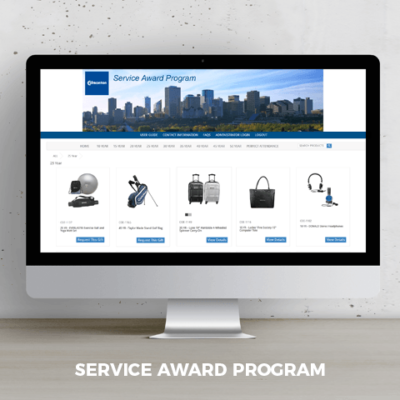online service award program with promotional products for City of Edmonton
