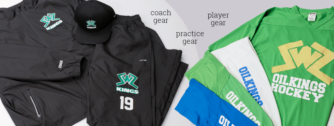 Coaches gear for SWZ with practice and player gear
