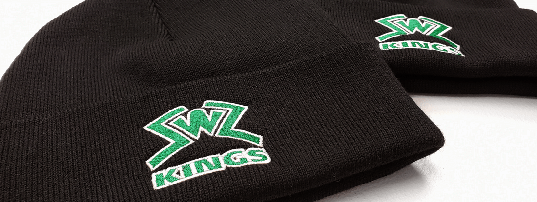 logoed toques for SWZ hockey team