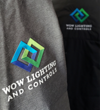 close-up of the decoration on logoed jackets
