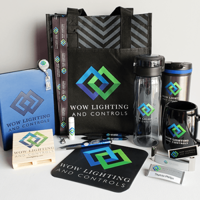 WOW Lighting promotional products for the new brand launch