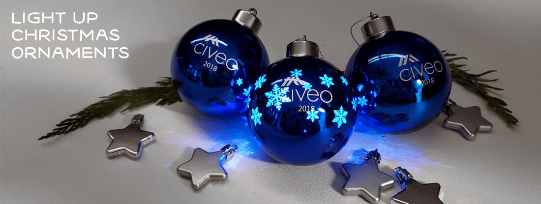 Civeo light-up Christmas ornament