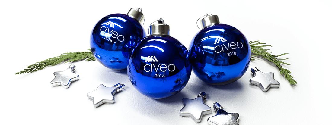 imprinted light up Christmas balls