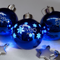 imprinted light up Christmas balls