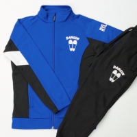 Dancin zip-up jacket and pants with team logo and personalized with the dancer's name on the shoulder