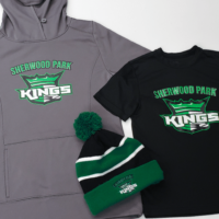 Custom team apparel for Sherwood Park Kings team