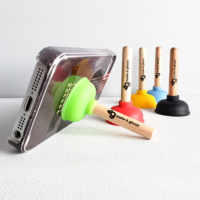 Bartle & Gibson plunger smartphone holder promotional product
