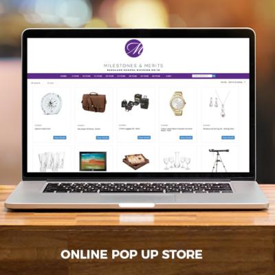 Milestones & Merits online pop up store