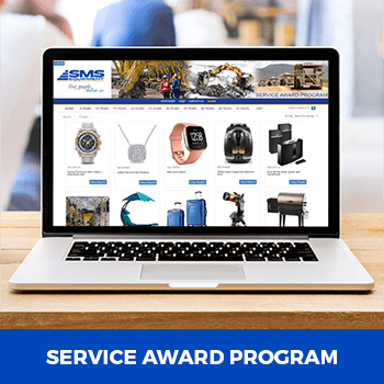 example of an online service award program