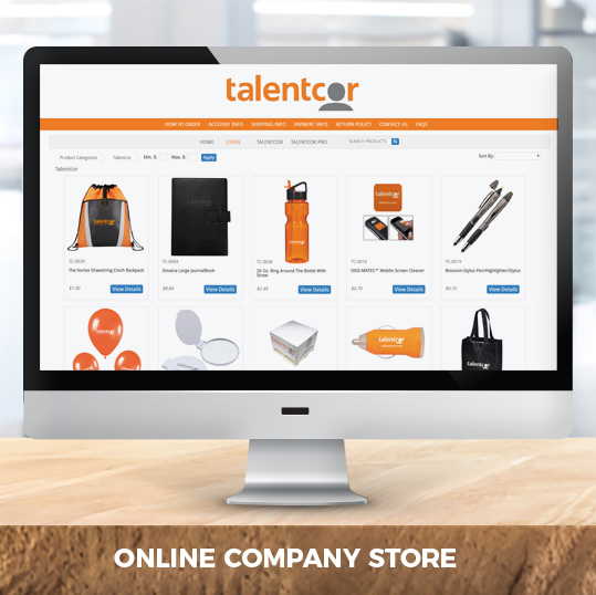 Online company store for Talentcor