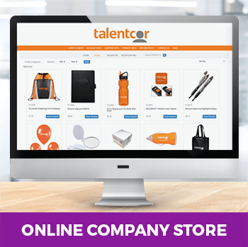 online company store displayed on a screen