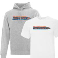 logoed shirts and hoodies