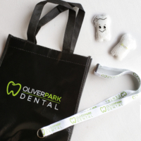 Open House Giveaway Swag for a dental office