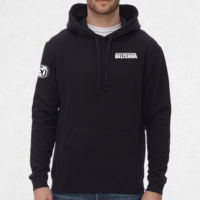 heavy cotton hoodie with logo embroidered on left chest and sleeve