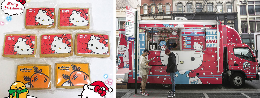 Hello Kitty and Converse promotion including custom-made cookies