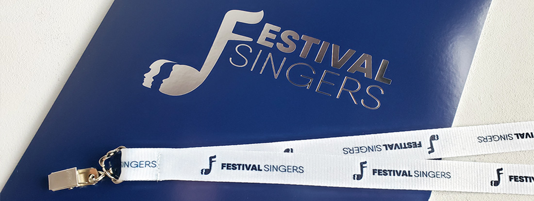 branded merchandise included in the welcome package for Festival Singers