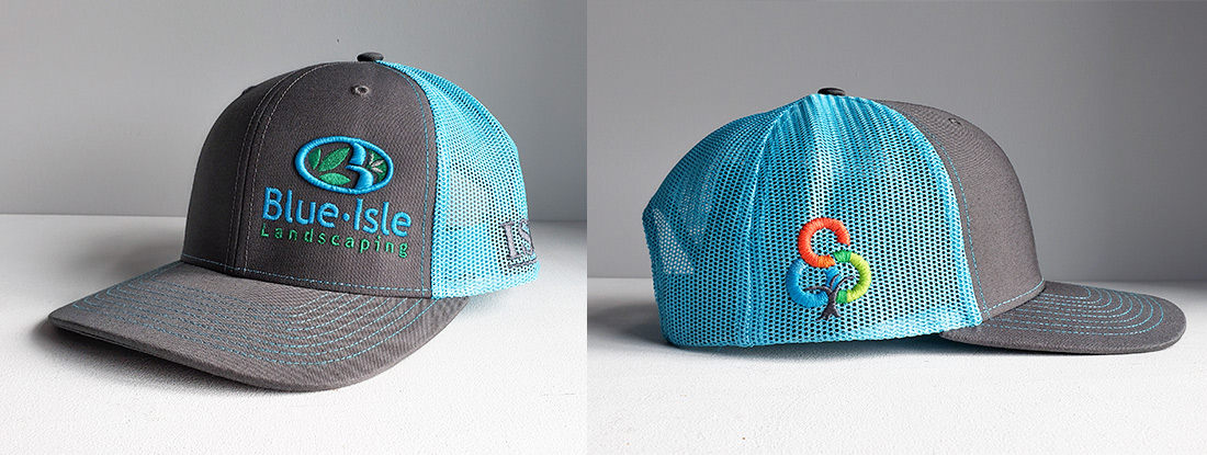 logo embroidered on a stylish trucker hat
