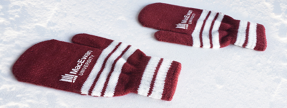 Custom, Pantone-matched mittens for university students
