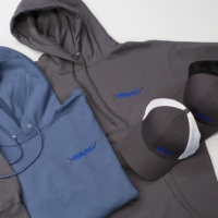 logoed hoodies and hats as gifts to employees and customers