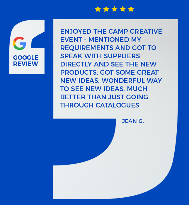 google review left by one of the guest to Camp CREATIVE
