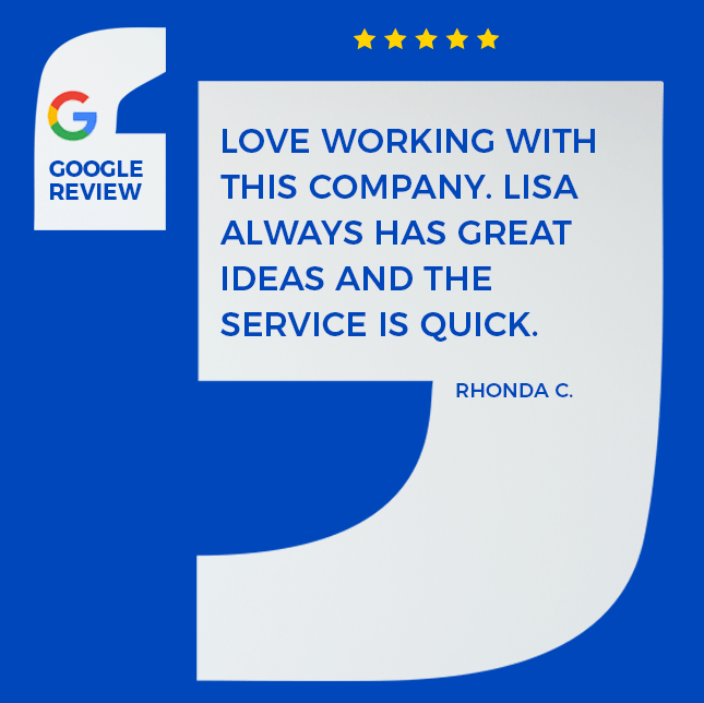 client's google review of us