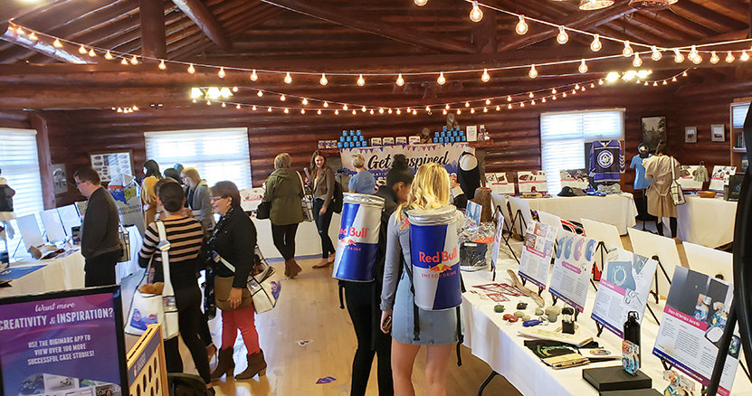 Red Bull reps at our Camp CREATIVE open house
