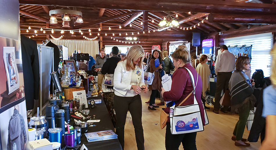 vendors showing promotional products at the camp CREATIVE open house