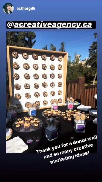social post of our donut wall at the recent open house