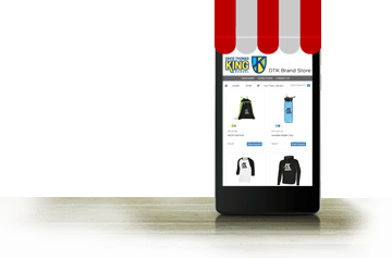 online pop-up store displayed on a smartphone