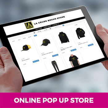 example of an online pop up store