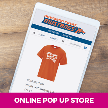 orange t-shirt online pop up store