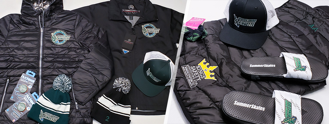 branded gear from the online pop up store