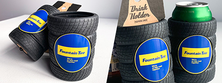 Unique Giveaway For Special Customers - Fountain Tire Drink Koozie project