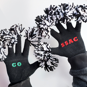 rally fingers branded gloves that inspire cheering for a team