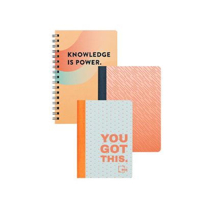 logoed notebooks
