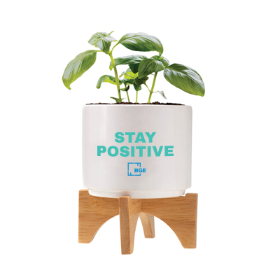 logoed planter set