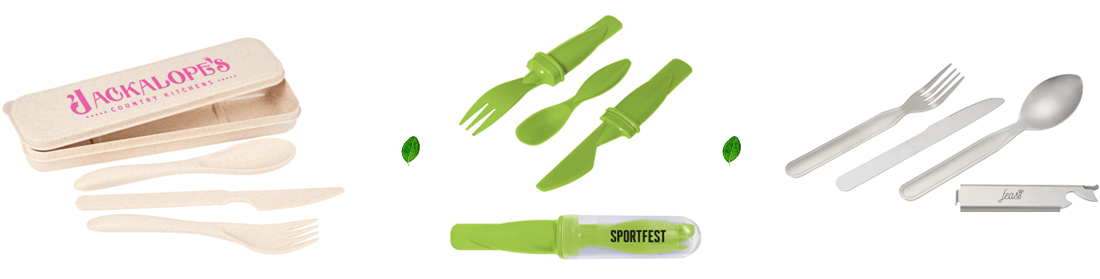 promotional reusable logoed cutlery