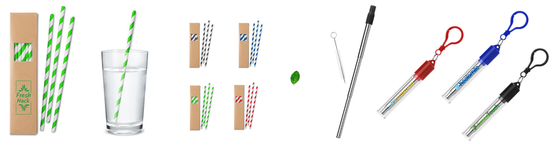 another strategy for Moving Away From Single-Use Plastic are these reusable straws