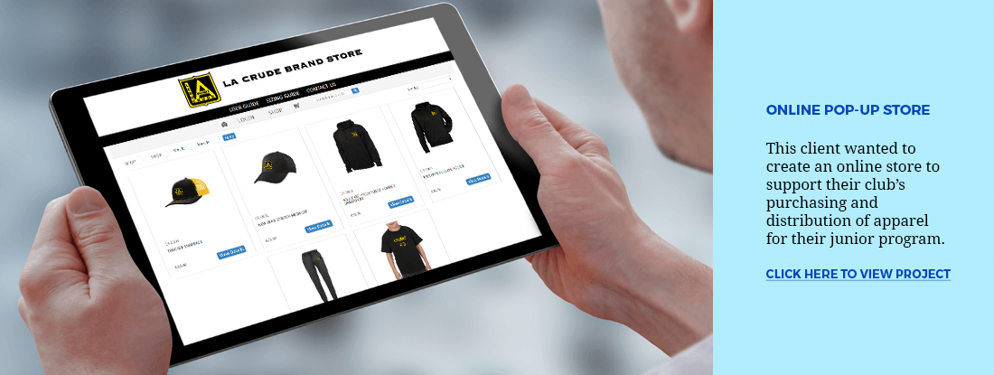 see this project of an online pop-up store for a local sports club
