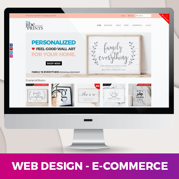 e-commerce website design project for an online retailer