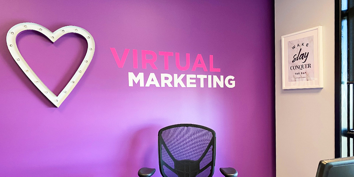 Creative promotional marketing office interior