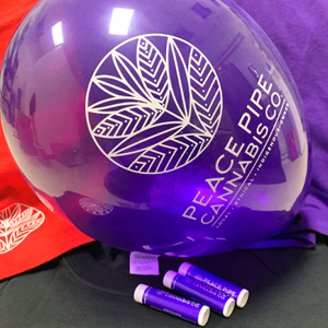 event swag for a cannabis store promotion