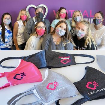 self-promotion PPE branded masks