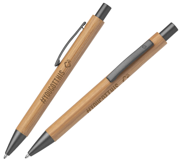 bamboo pen with a laser engraved logo